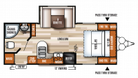 2017 Salem Cruise Lite 232RBXL Floor Plan