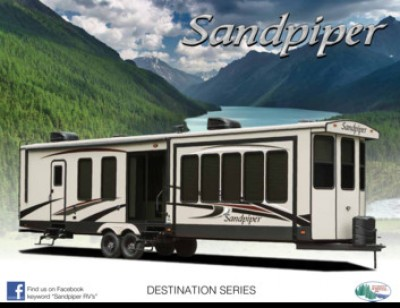 2017 Forest River Sandpiper Destination RV Brand Brochure Cover