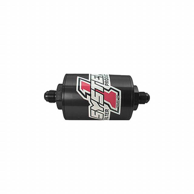 Pro Street Inline Fuel Filter - #6 Billet - Blk