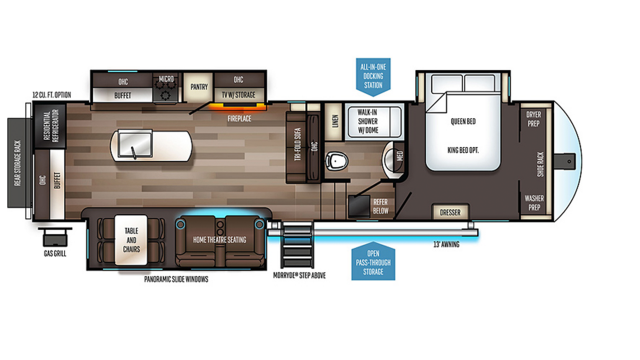2020 Sabre 31IKT Floor Plan