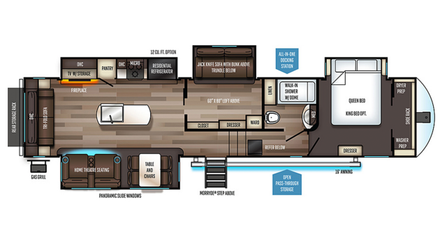 2020 Sabre 36BHQ Floor Plan