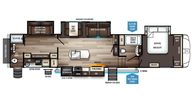 2020 Sabre 38DBQ Floor Plan