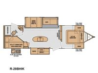 2014 Radiance 28BHIK Floor Plan
