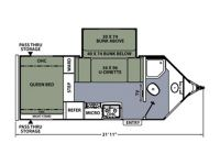 2013 Apex 201QBV Floor Plan