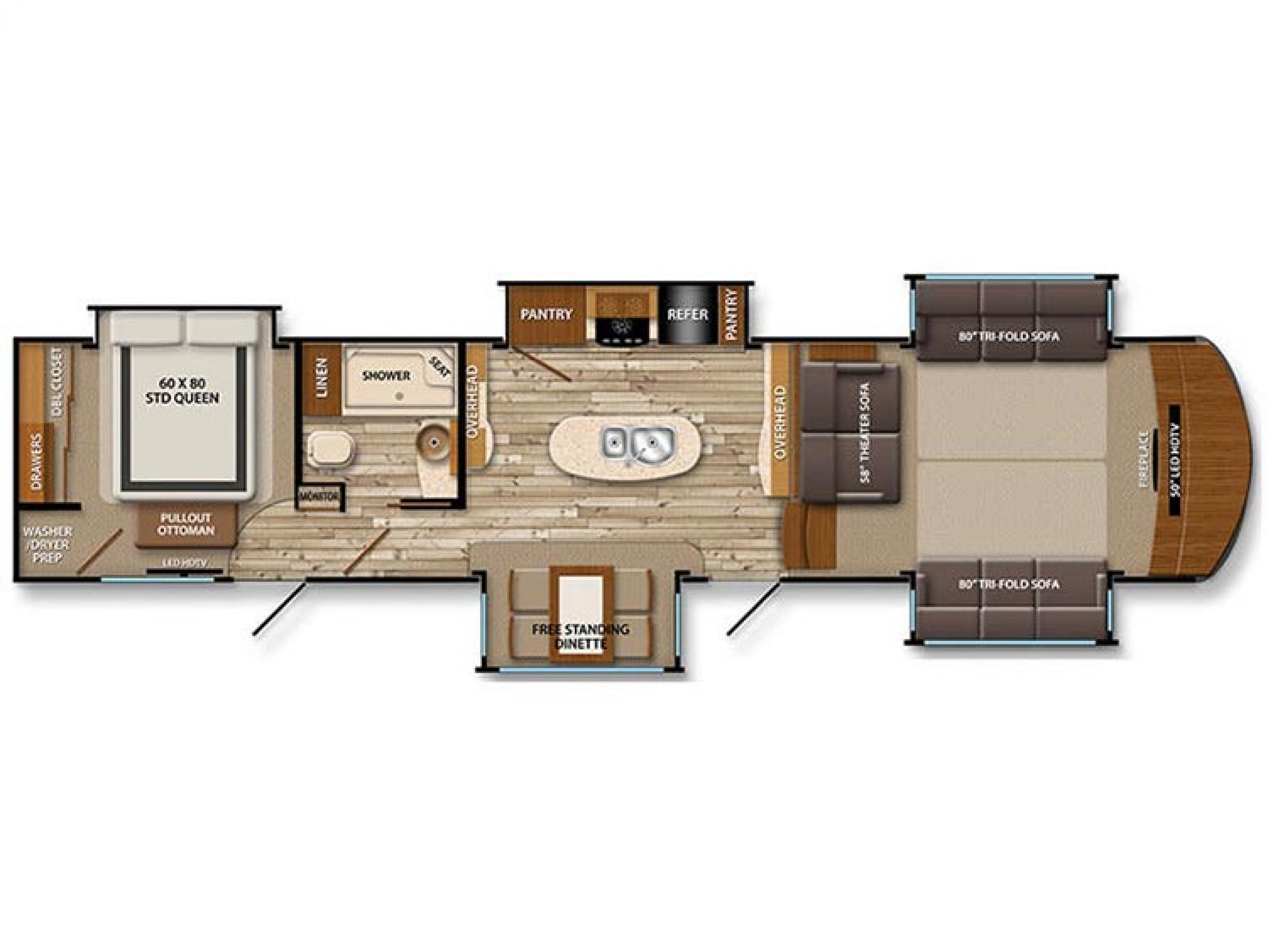 2018 379 FL Grand Design Solitude Used Front Living Room 5th Wheel ...