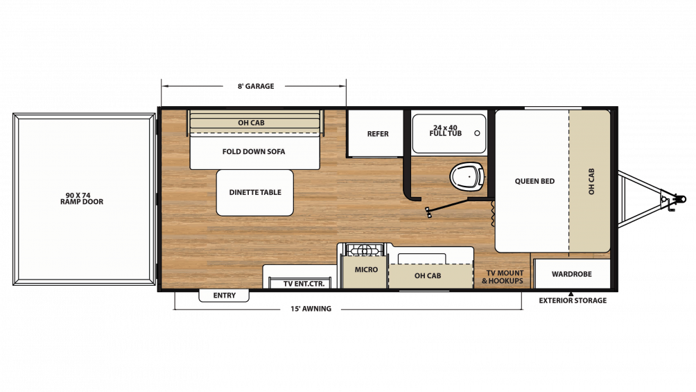 2018 Catalina Trail Blazer 19TH Floor Plan