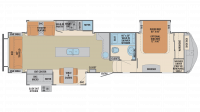 2018 Columbus 366RL Floor Plan