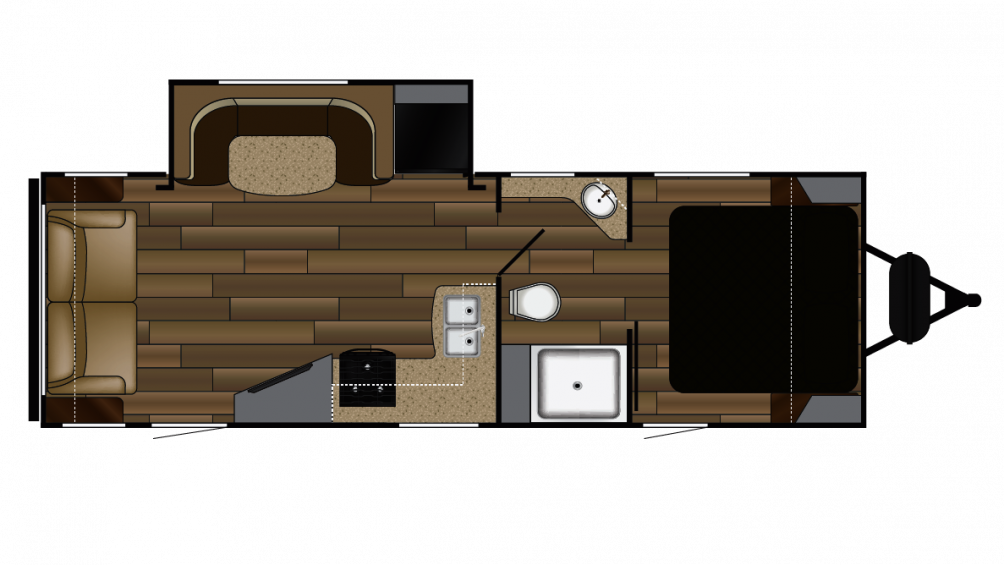 2018 Fun Finder Xtreme Lite 25RS Floor Plan