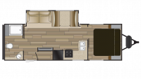 2018 Fun Finder Xtreme Lite 26RB Floor Plan