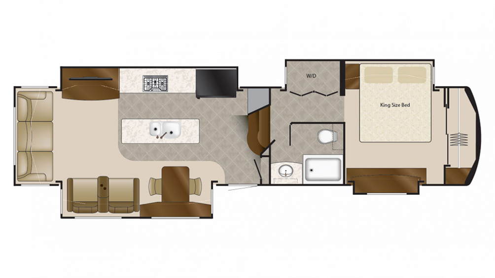 2018 Mobile Suites 38KSSB4 Floor Plan