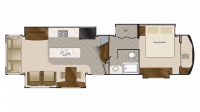 2019 Mobile Suites 38KSSB4 Floor Plan