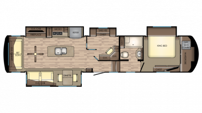 2018 Redwood 3881ES Floor Plan