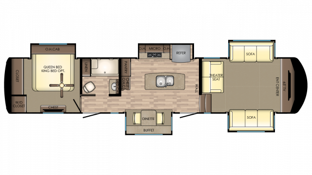 2018 Redwood 3941FL Floor Plan