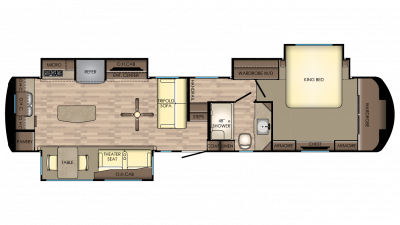 2018 Redwood 3961RK Floor Plan Img