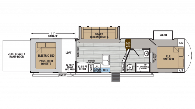 2018 XLR Thunderbolt 340AMP Floor Plan