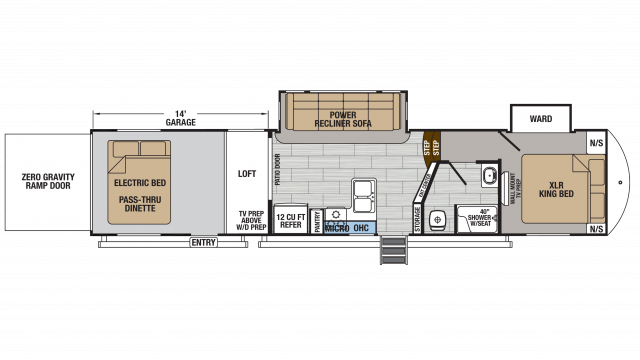 2018 XLR Thunderbolt 341AMP Floor Plan