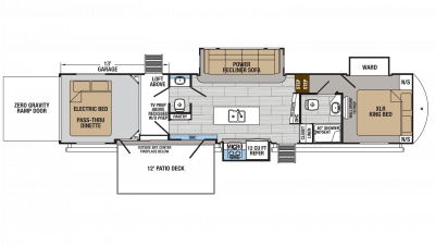 2018 XLR Thunderbolt 422AMP Floor Plan