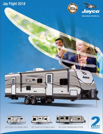 2018 Jay Flight brochure cover
