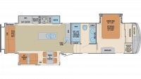 2019 Columbus Compass Series 329DVC Floor Plan