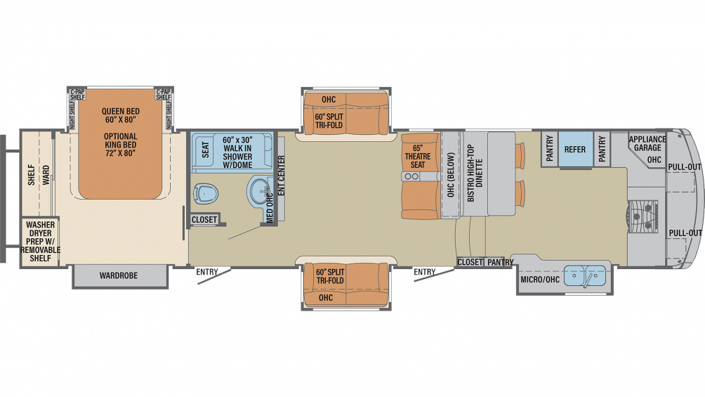 2019 Columbus Compass Series 386FKC Floor Plan Img