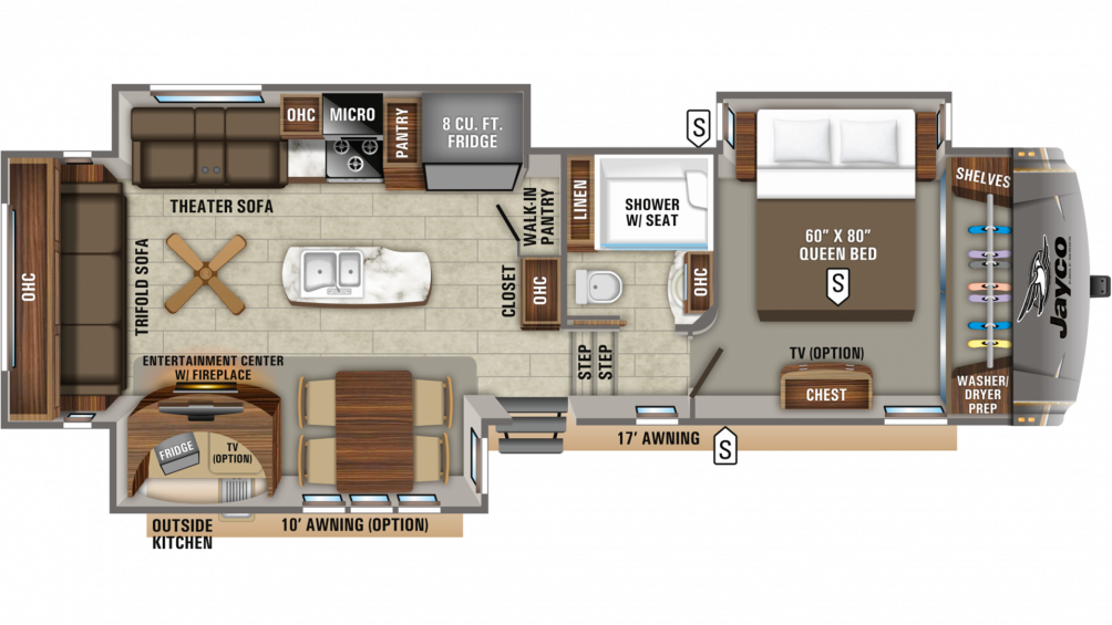 2019 Eagle 317RLOK Floor Plan Img