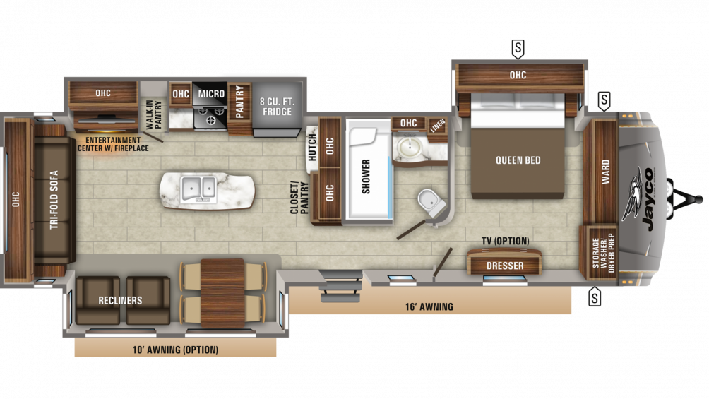 2019 Eagle 330RSTS Floor Plan Img