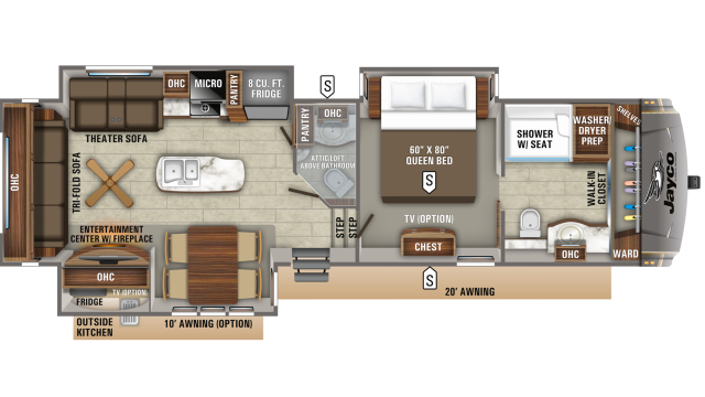 2019 Eagle 336FBOK Floor Plan