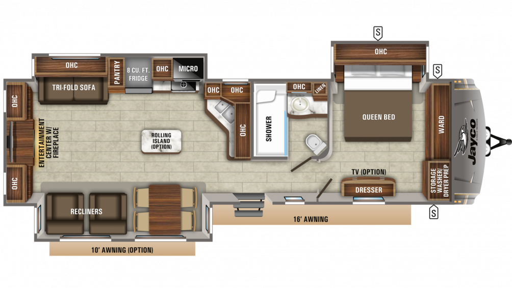 2019 Eagle 338RETS Floor Plan Img