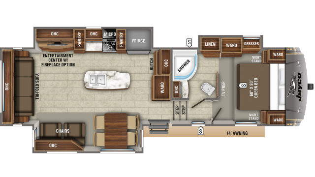 2019 Eagle HT 30.5CKTS Floor Plan