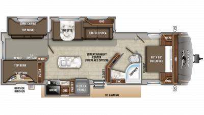 2019 Eagle HT 324BHTS Floor Plan Img