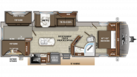 2019 Eagle HT 324BHTS Floor Plan
