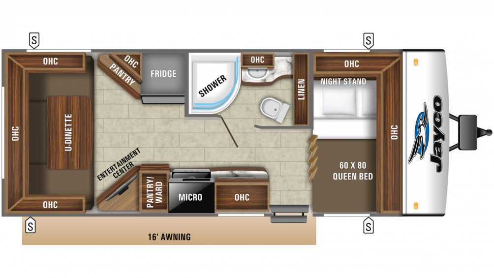 2019 Jay Feather 21RD Floor Plan Img