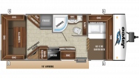 2019 Jay Feather 21RD Floor Plan