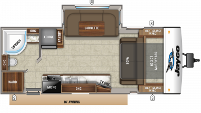 2019 Jay Feather 23RBM Floor Plan Img