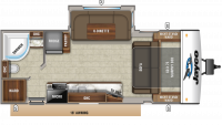 2019 Jay Feather 23RBM Floor Plan