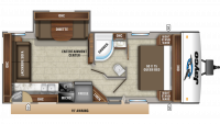 2019 Jay Feather 24RL Floor Plan