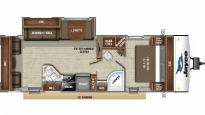 2019 Jay Feather 27RL Floor Plan Img