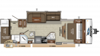 2019 Jay Feather 29QB Floor Plan