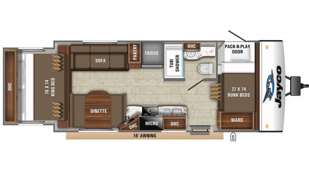 2019 Jay Feather X213 Floor Plan Img