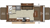 2019 Jay Feather X23B Floor Plan