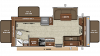 2019 Jay Feather X23E Floor Plan