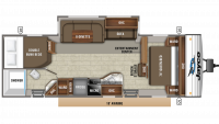 2019 Jay Flight 28BHBE Floor Plan