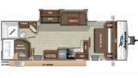 2019 Jay Flight 28BHS Floor Plan