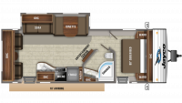 2019 Jay Flight 28RLS Floor Plan