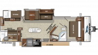 2019 Jay Flight 33RBTS Floor Plan