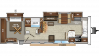2019 Jay Flight Bungalow 40FKDS Floor Plan