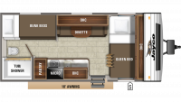 2019 Jay Flight SLX 174BH Floor Plan
