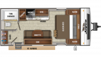 2019 Jay Flight SLX 195RB Floor Plan