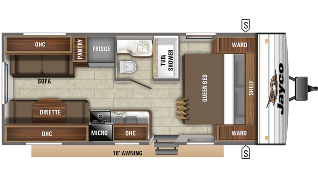 2019 Jay Flight SLX 212QB Floor Plan
