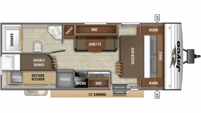 2019 Jay Flight SLX 224BH Floor Plan Img